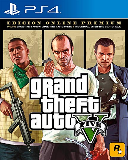 PS4 GTA 5 Grand Theft Auto V Premium Online Edition