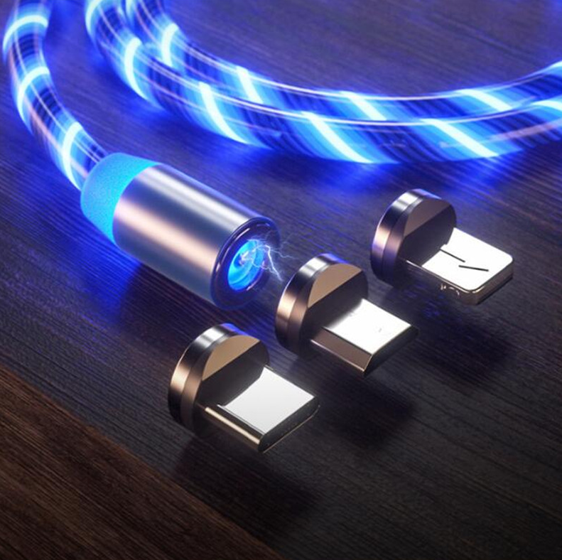 Carregador Rápido USB LED para iPhone XS 8 Xiaomi Samsung